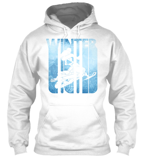 Vintage Retro Winter Holiday Snowmobilin White T-Shirt Front