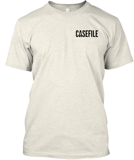 Casefile Oatmeal T-Shirt Front