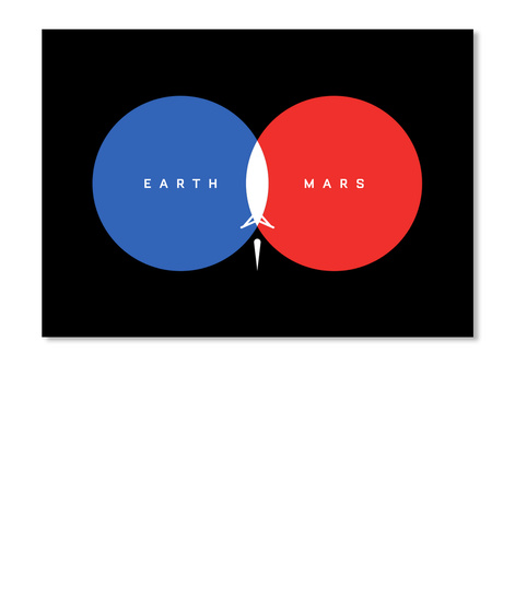 From Earth To Mars Sticker [Usa] #Sfsf Black Sticker Front