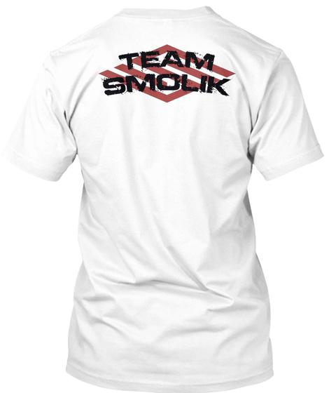 Team Smolik White T-Shirt Back