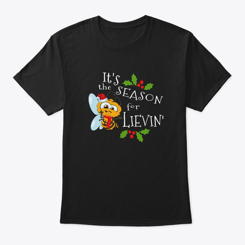 It's The Season For Bee Lievin' Cute Bee Black T-Shirt Front