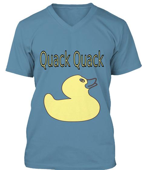 Quack Quack Steel Blue T-Shirt Front
