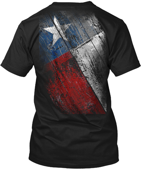 Texas Flag Black T-Shirt Back
