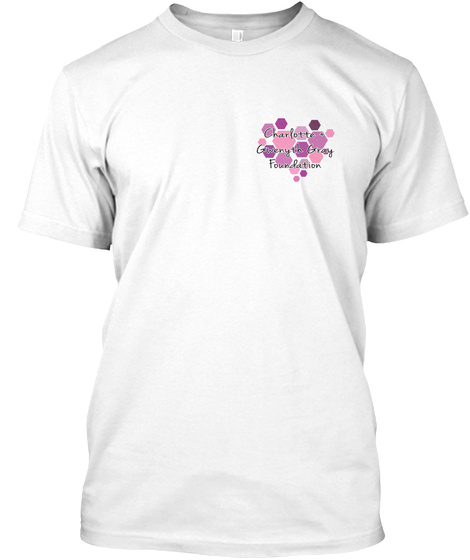 Cure Childhood Cancer White T-Shirt Front
