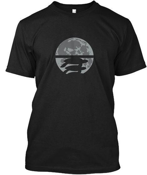 Flat Earth Eclipse 2 [Usa] #Sfsf Black T-Shirt Front