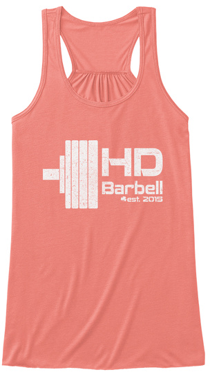 Hd Barbell Est. 2015 Coral Women's Tank Top Front