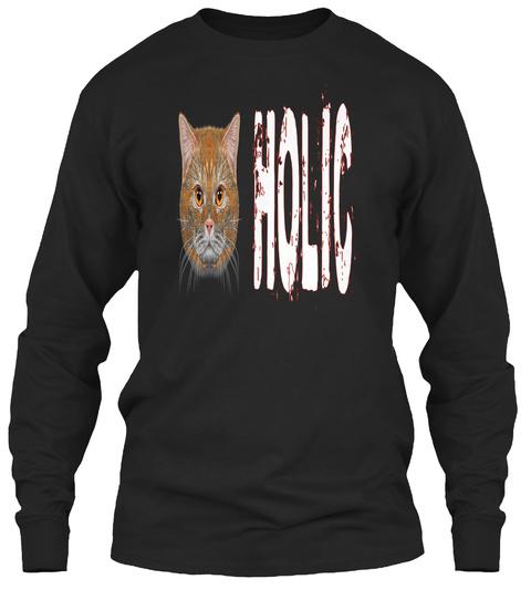 Catholic !!Addicted To Cat!! Black T-Shirt Front