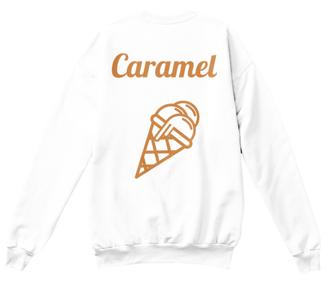 Caramel White Sweatshirt Back