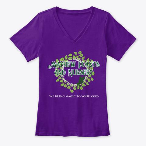 Mayhew Plants And Nursery   Dark Team Purple  T-Shirt Front