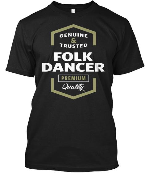 Folk Dancer Logo T Shirt Black T-Shirt Front