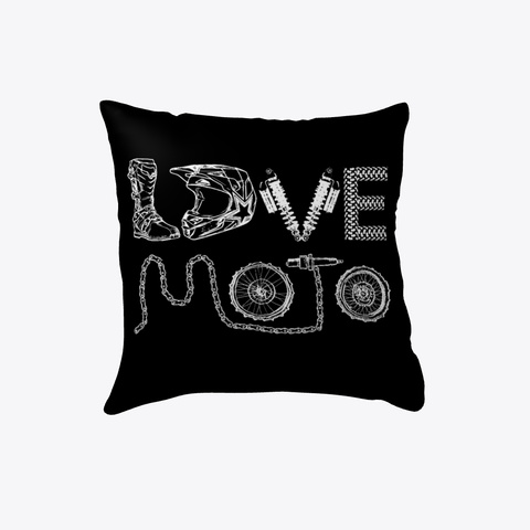 Love Moto Black T-Shirt Front