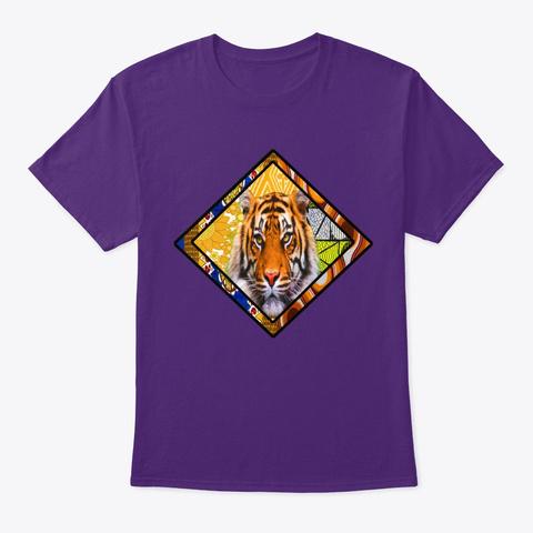 Tiger Diamond Purple T-Shirt Front