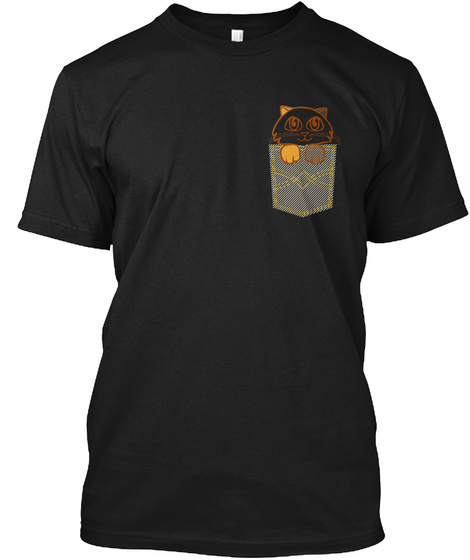 Cat In My Pocket   Kitty   Cute Animal Black T-Shirt Front