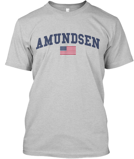 Amundsen Family Flag Light Steel T-Shirt Front
