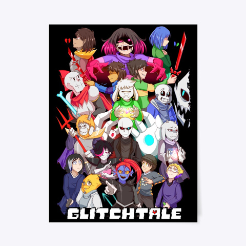 Glitchtale Poster  | Limited Edition Black T-Shirt Front