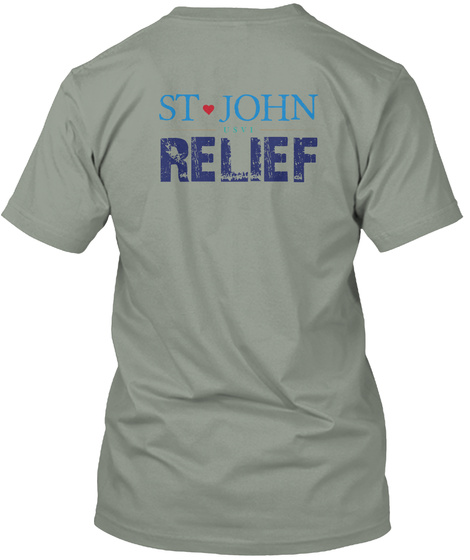 St. John Relief Grey T-Shirt Back
