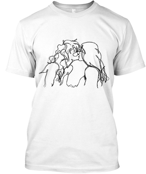 """The Lovers""   Lgbt+ Design For Charity White T-Shirt Front"