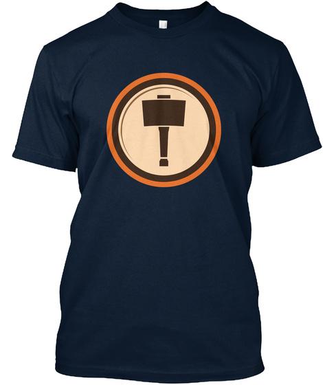 Woodshop Junkies Emblem New Navy T-Shirt Front
