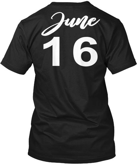 June 16   Gemini Black T-Shirt Back