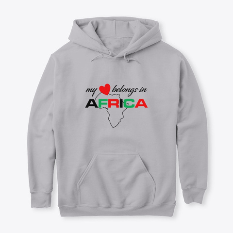 My Heart Belongs In Africa  Sport Grey T-Shirt Front