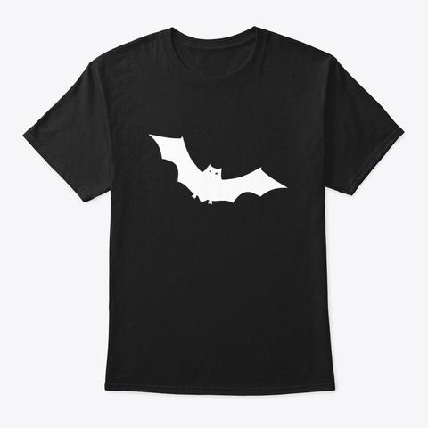 Flying Bat T Shirt Black T-Shirt Front