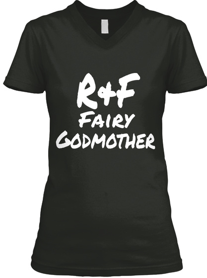 R F Fairy Godmother Black T-Shirt Front