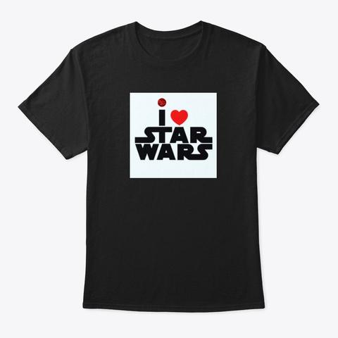 I Love Sw Black T-Shirt Front