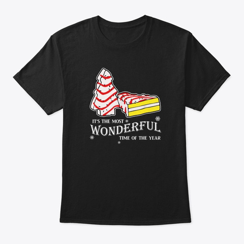 Christmas Most Wonderful Time Of Year Black T-Shirt Front