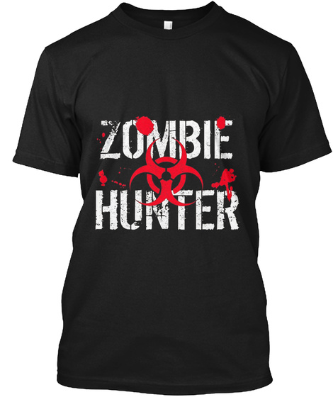 Zombie Hunter Black T-Shirt Front