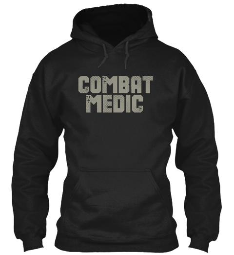 Combat Medic Black Sweatshirt Front