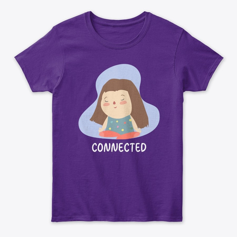 Connected Lotus Girl Purple T-Shirt Front