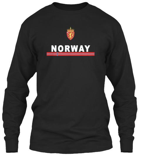 Norway Emblem National Design Black T-Shirt Front