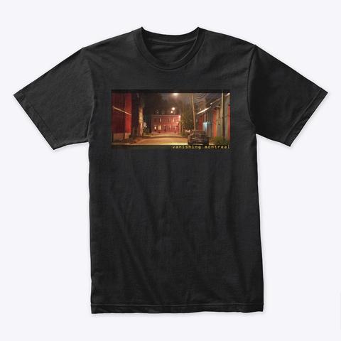 Vanishing Montreal Black T-Shirt Front