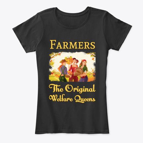 Farm Girls   The Original Welfare Queens Black T-Shirt Front
