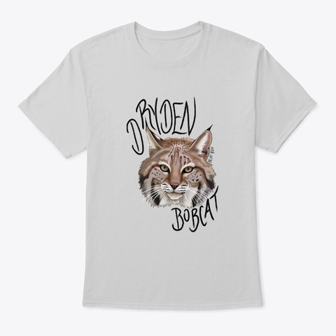 Handsome Dryden Bobcat  Light Steel T-Shirt Front