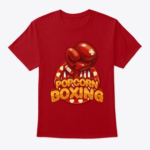 Popcorn Boxing T Shirt Deep Red T-Shirt Front