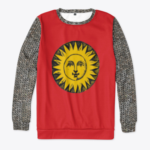 Heraldic Chain Mail   Sun Red T-Shirt Front
