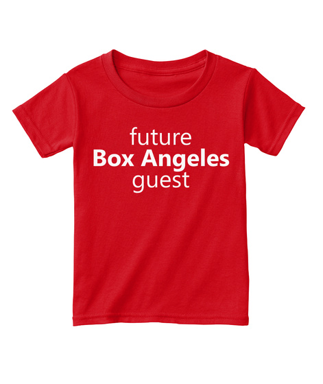 Future Guest Toddler (Multiple Colors) Red  T-Shirt Front