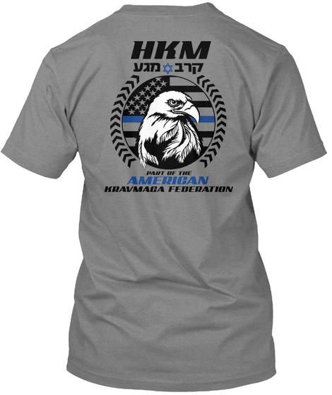 Hkm Part Of The American Kravmaba Federation Premium Heather T-Shirt Back