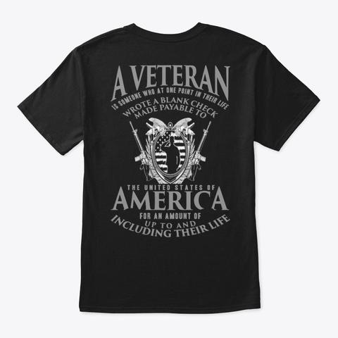 Veteran   Soldier   Military   Vet   004 Black T-Shirt Back