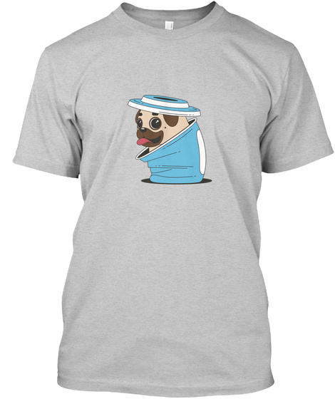 Funny Pug Limited Edition Light Steel Kaos Front