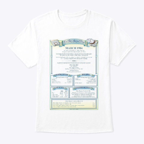 On This Special Day Mar '84 White T-Shirt Front