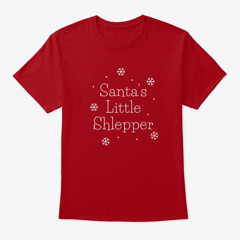 Santa's Little Shlepper Deep Red T-Shirt Front
