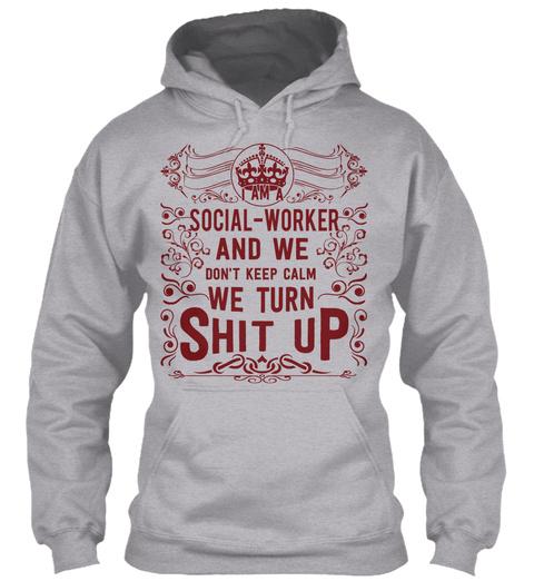 Social Worker Sport Grey T-Shirt Front