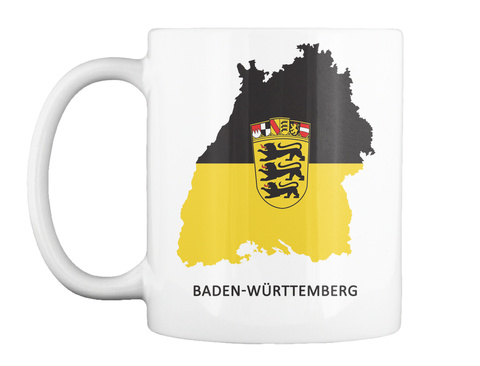 Collectible Series   Baden Württemberg White Mug Front