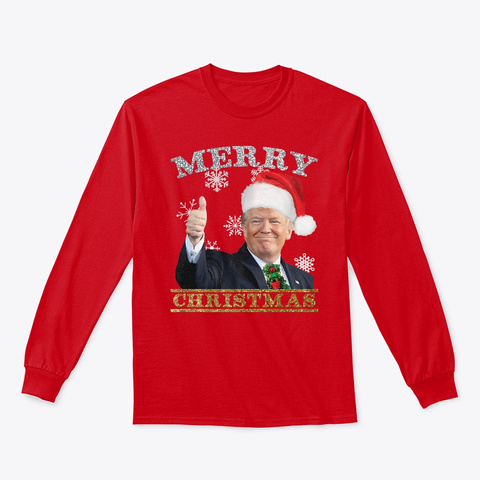 It's A Trump 45 Merry Christmas Holiday Red T-Shirt Front