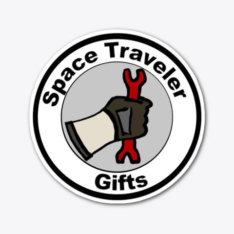 Space Traveler Gifts Logo Sticker Standard T-Shirt Front