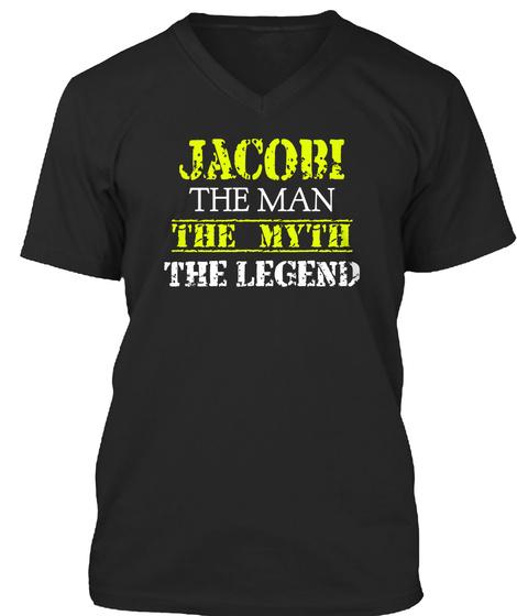 Ja Cobi The Man The Myth The Legend Black T-Shirt Front