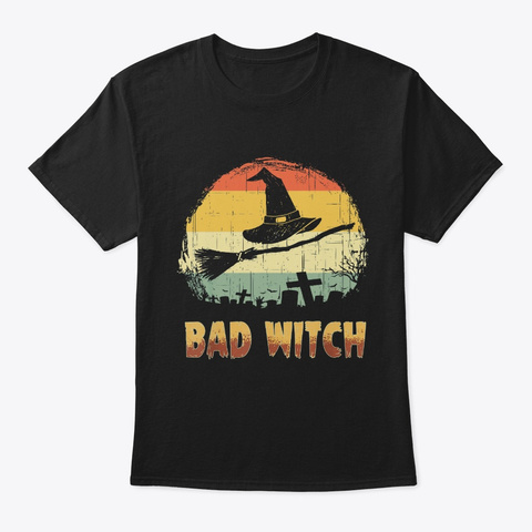 Bad Witch Good Witch Matching Halloween Black T-Shirt Front