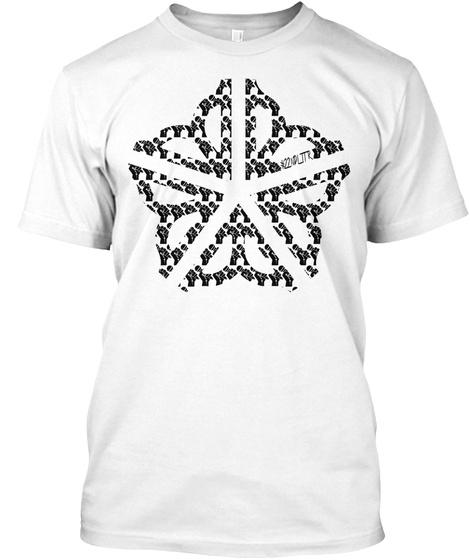 585 Music Scene T Shirt/V Neck White T-Shirt Front